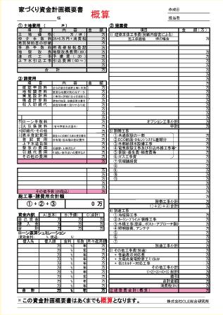 資金フレーム表